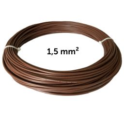 Wire brown 1.5 mm², coil 25 m
