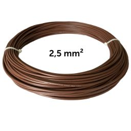 Wire brown 2.5 mm², coil 25 m