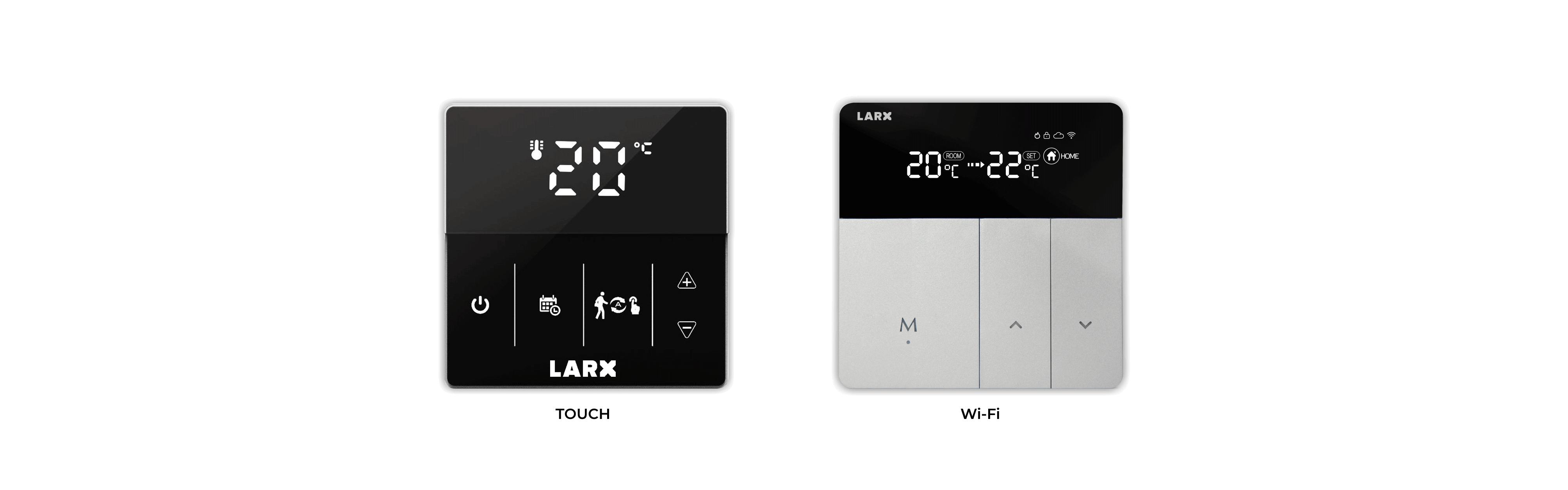 LARX thermostat for efficient control