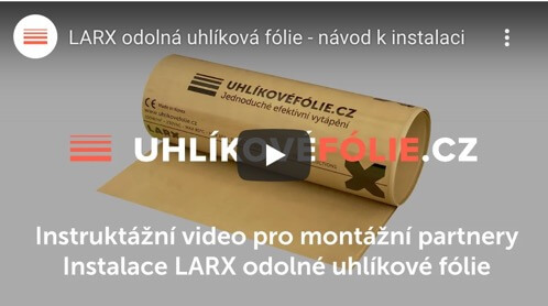 Installation of the durable LARX carbon heating Film 150 W/m²