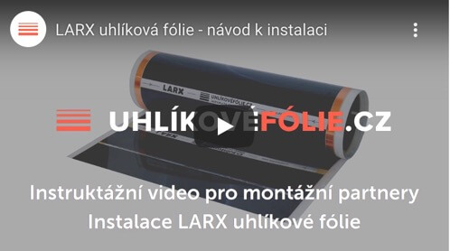 Installation of the LARX carbon heating Film 100 W/m² and 180 W/m²